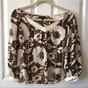 The Limited Silk Floral Cropped Blouse Size XS